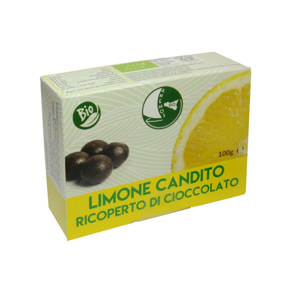 Limone Candito Ricoperto di Cioccolato Bio