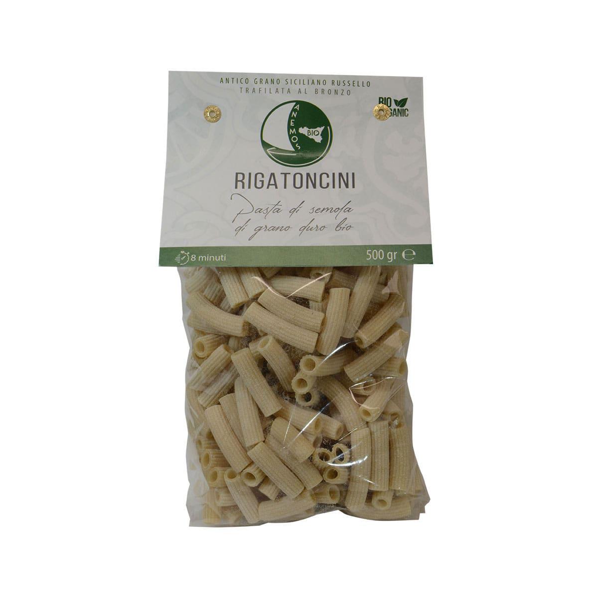 Organic Russello Durum Wheat Rigatoncini Pasta