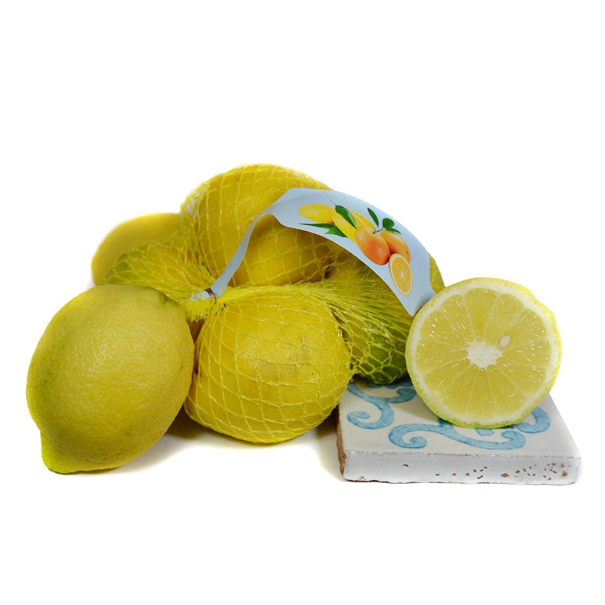 Limoni biologici di Sicilia con buccia edibile